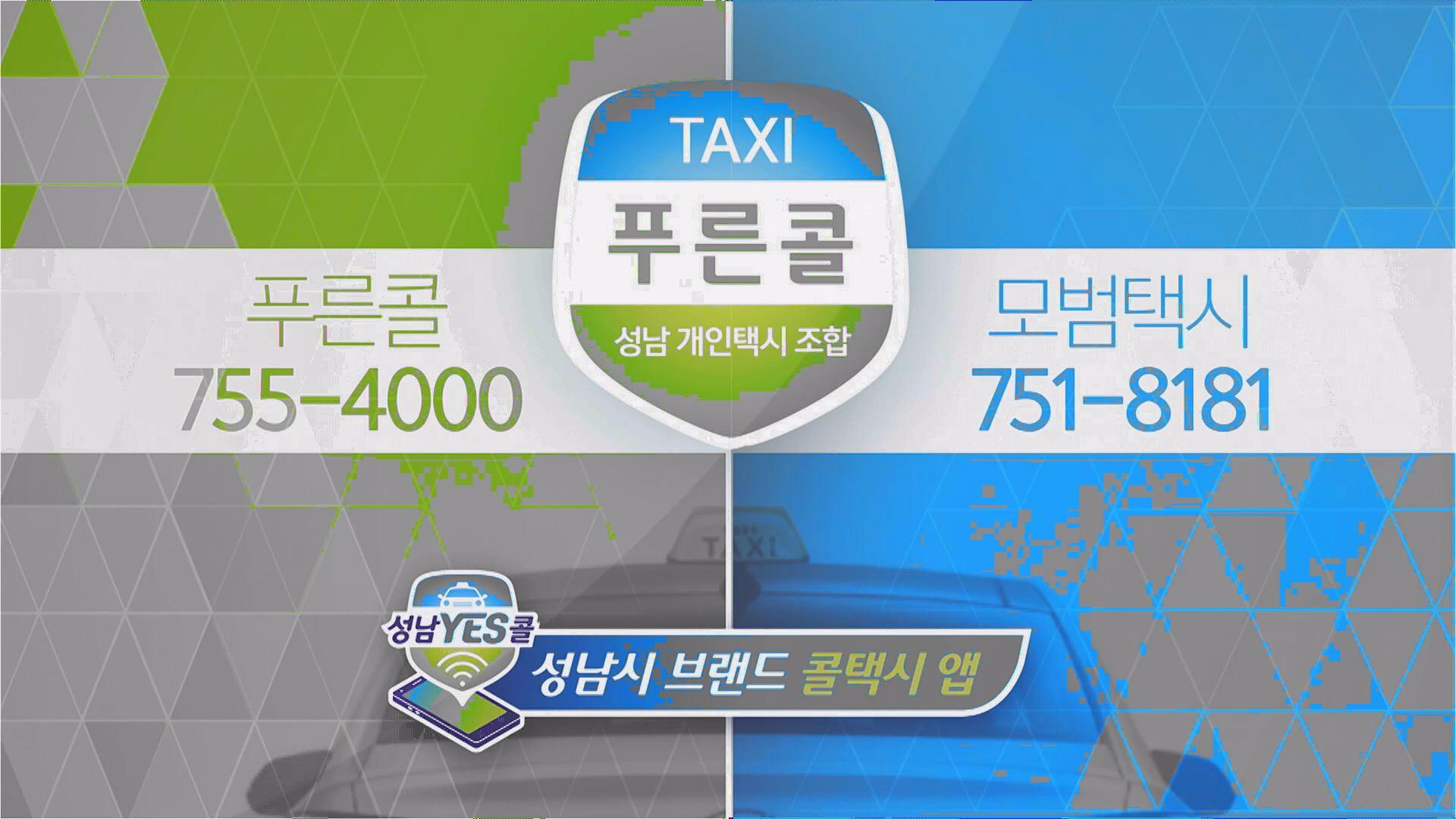 푸른콜 택시광고이미지