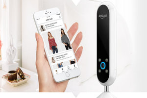 Amazon look with smartphone app in hand