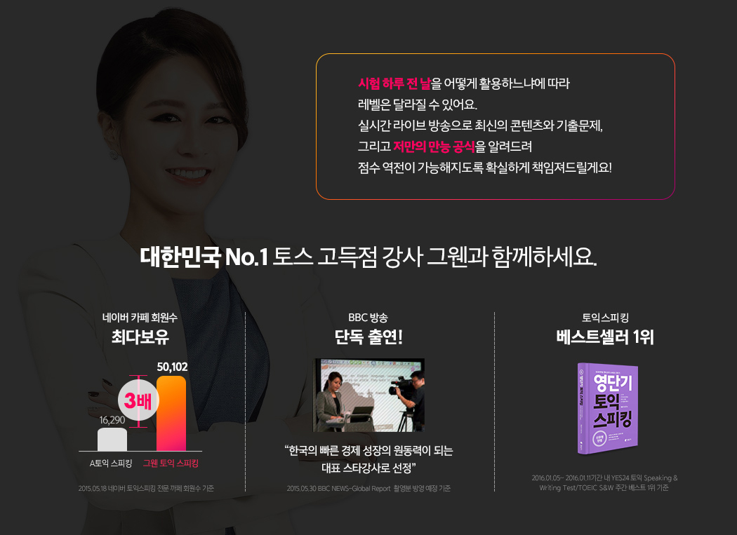 네이버 카페 회원수 최다보유, BBC방송 단독 출연, 2016년 베스트셀러 1위