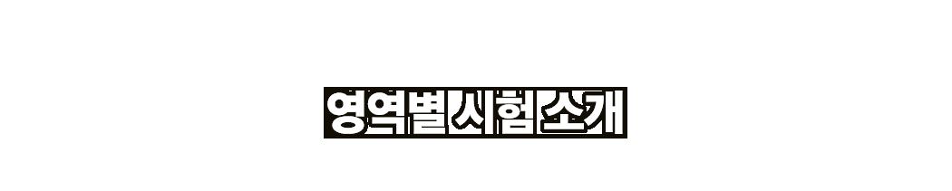 영역별 시험 소개