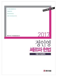 2017 정인영 헌법 기출 및 예상문제