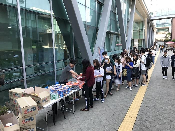 2017년 6월 기말고사 간식배포