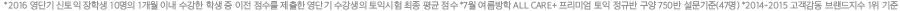 *2016 영단기 신토익 장학생 10명의 1개월 이내 수강한 학생 중 이전 점수를 제출한 영단기 수강생의 토익시험 최종 평균 점수 *7월 여름방학 ALL CARE+ 프리미엄 토익 정규반 구양 750반 설문기준(47명) *2014-2015 고객감동 브랜드지수 1위 기준
