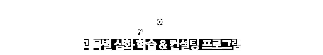 02.단기 고득점 완성을 위한 과목별 심화 학습 & 컨설팅 프로그램