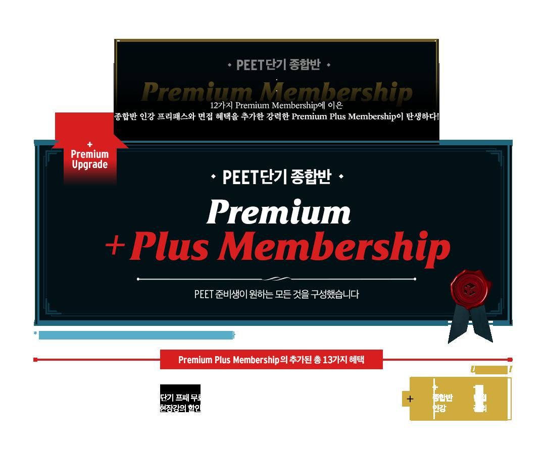 PEET종합반  premium+plus membership