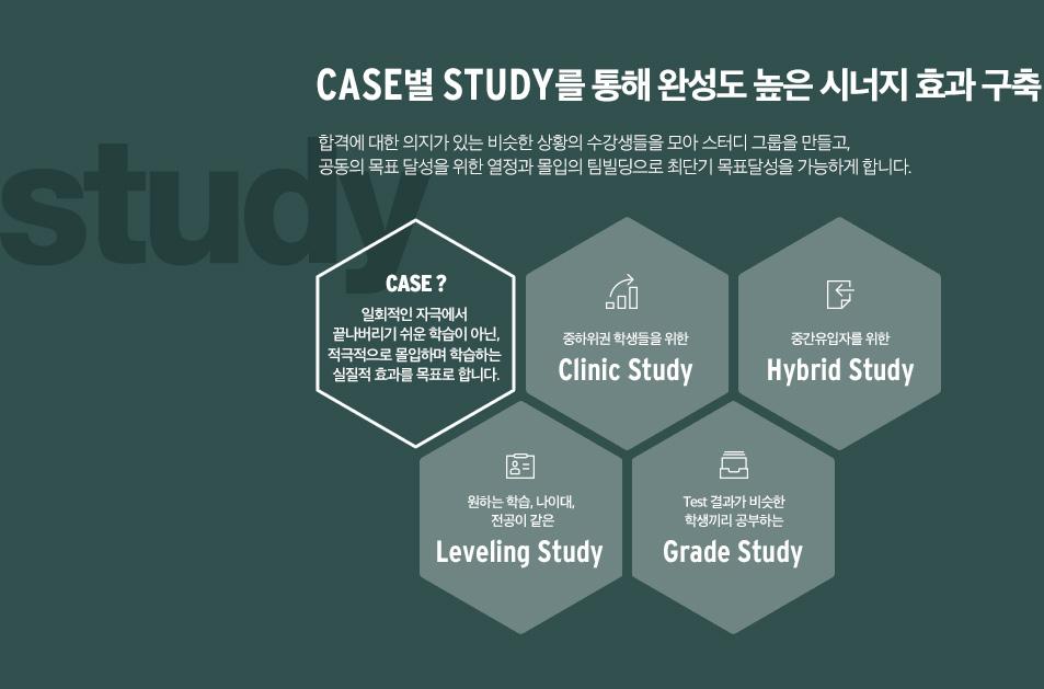 CASE별 STUDY를 통해 완성도 높은 시너지 효과 구축