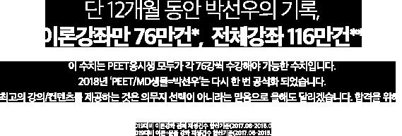 단 12개월 동안 박선우의 기록, 이론 강좌만 76만건, 전체강좌 116만건