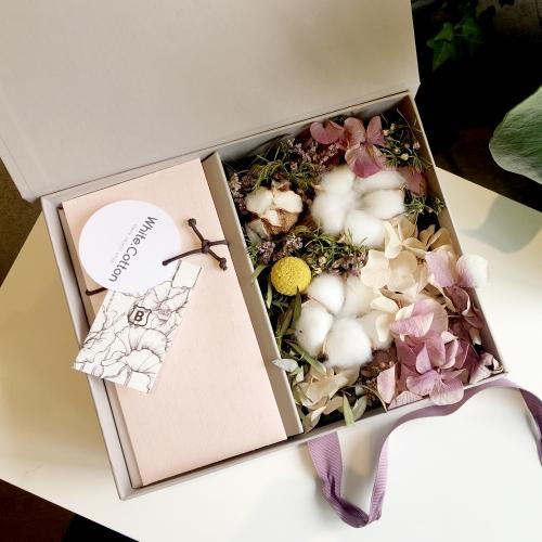 [부모님선물] 목화 프리저브드 플라워 용돈박스