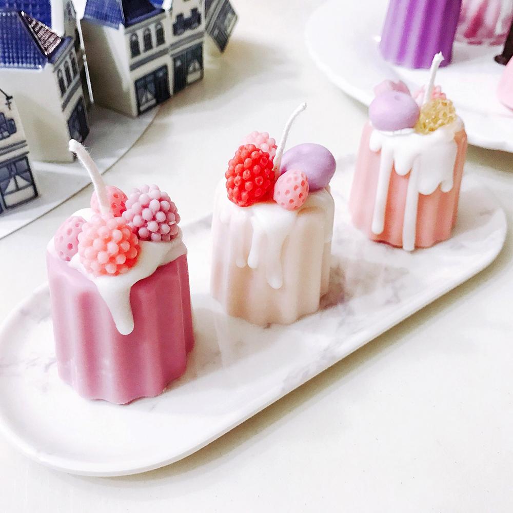 핑크 까눌레 디저트 캔들 3p 선물세트