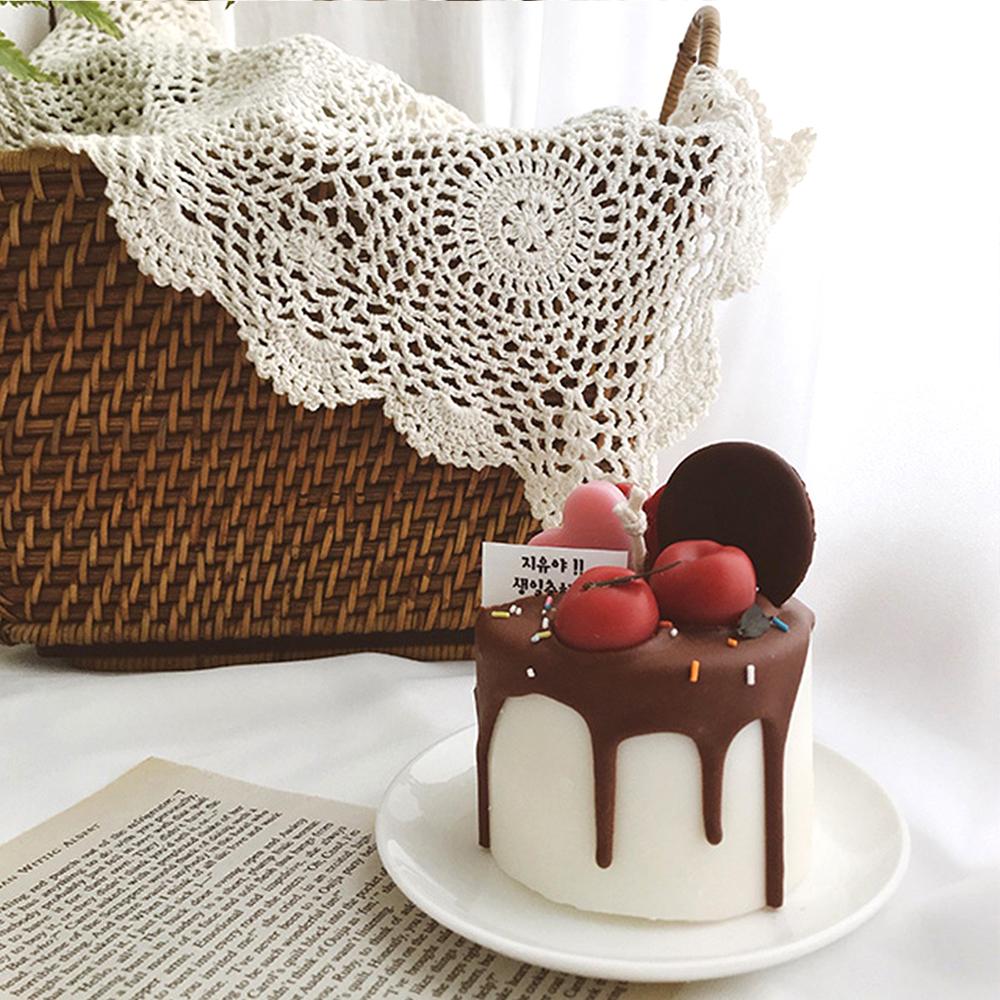 하트 메세지 케이크 캔들