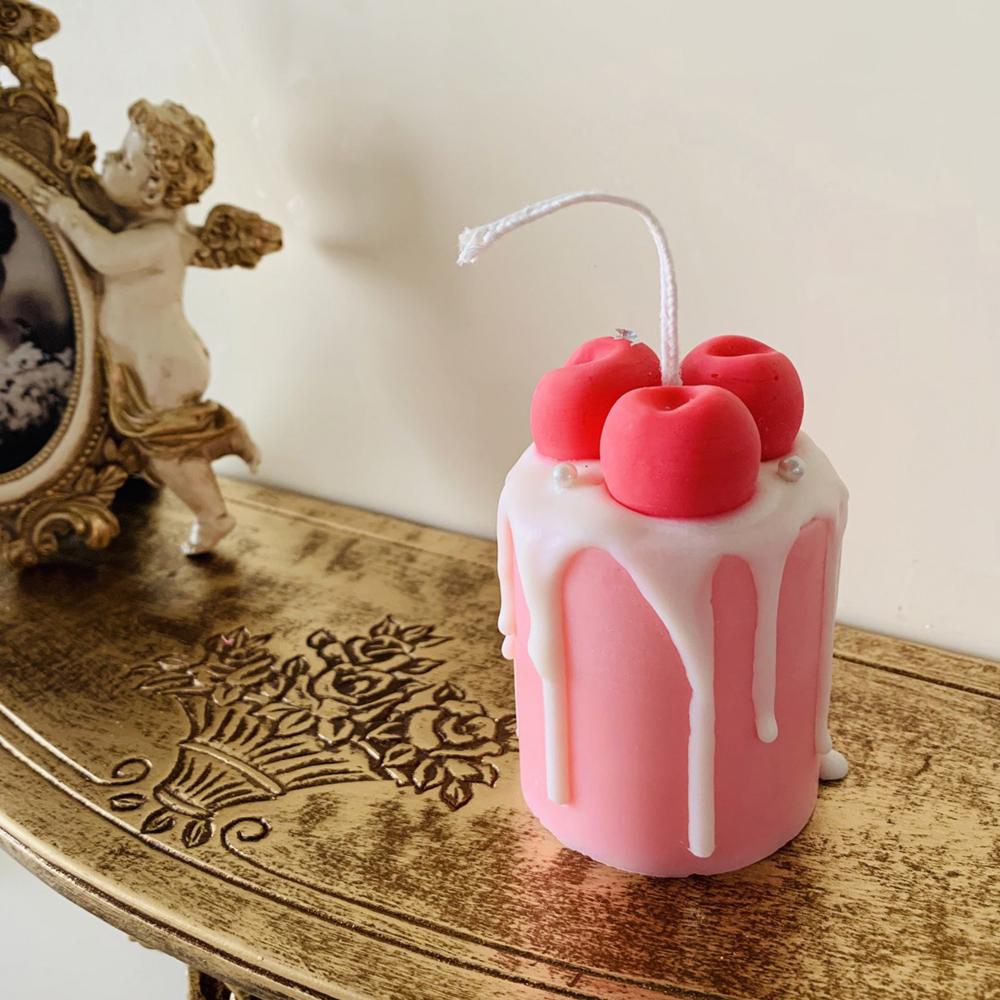 미니 케이크 디저트 캔들