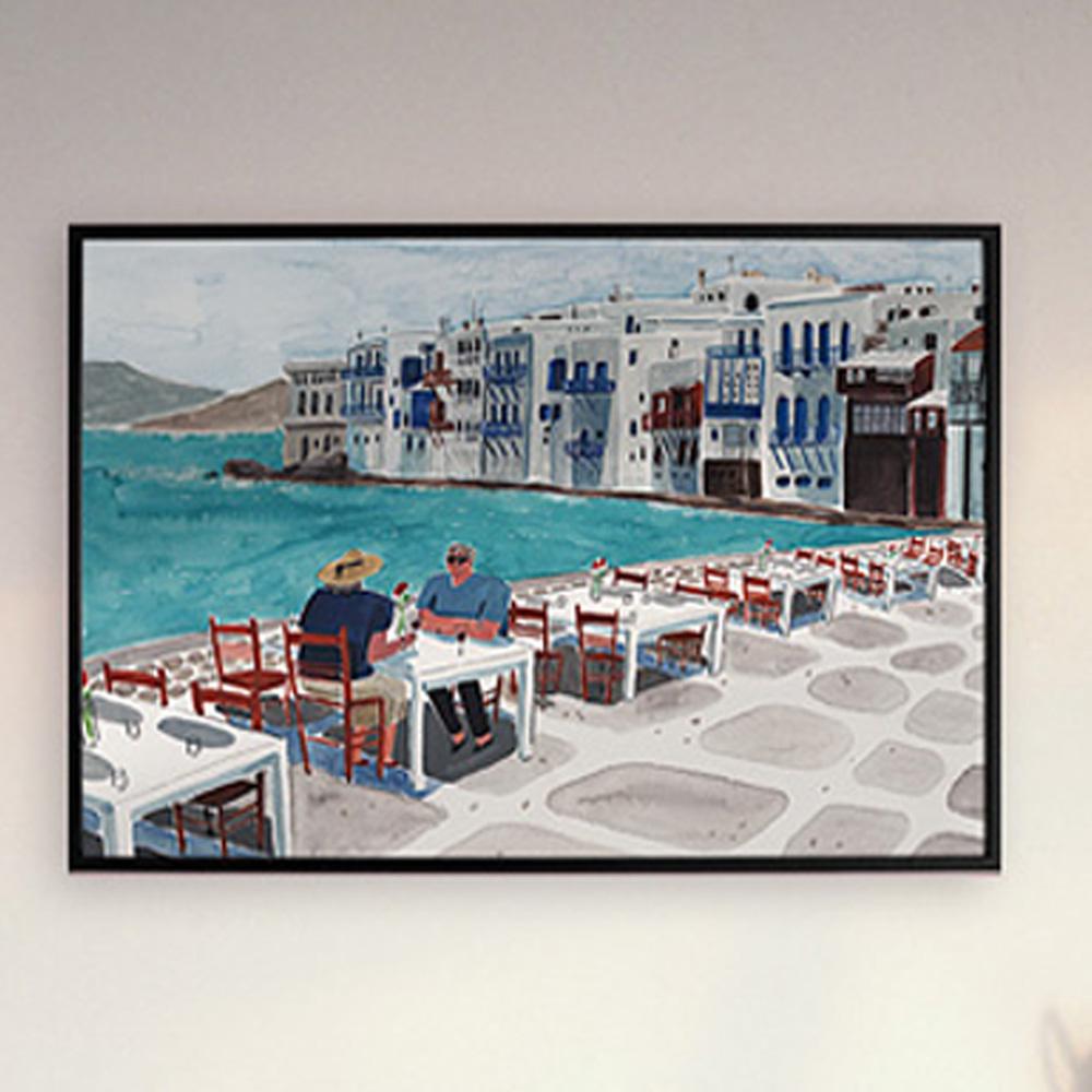 그리스의 아침 (ART PRINT) / 일러스트 액자