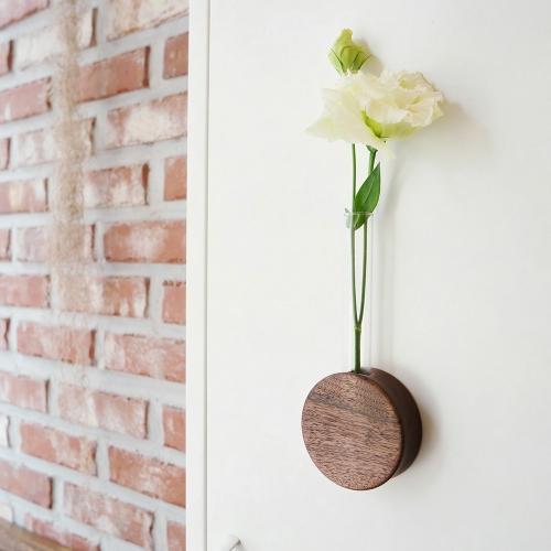 원목 자석 꽃병