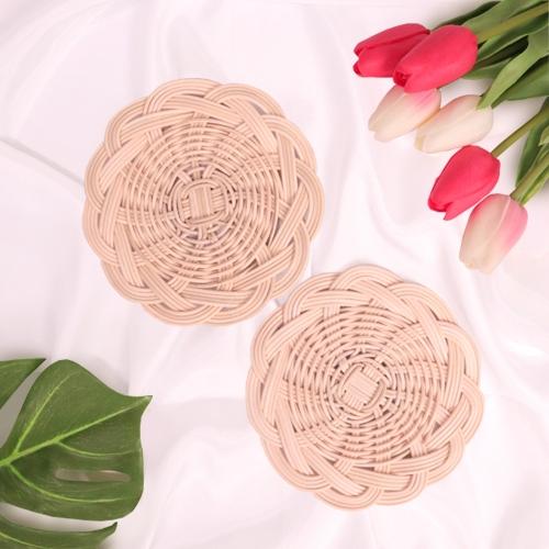 라탄 컵받침 두개 만들기 패키지 DIY