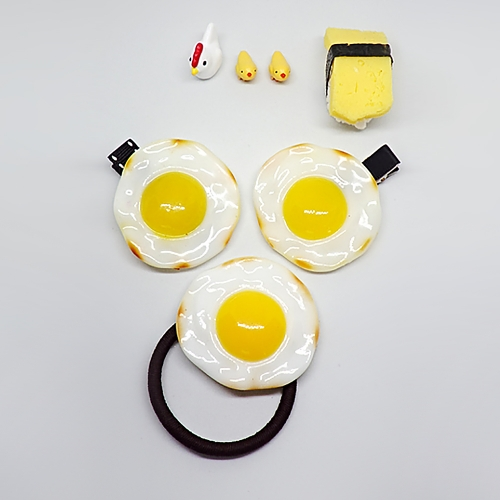 계란후라이 핀/포니테일