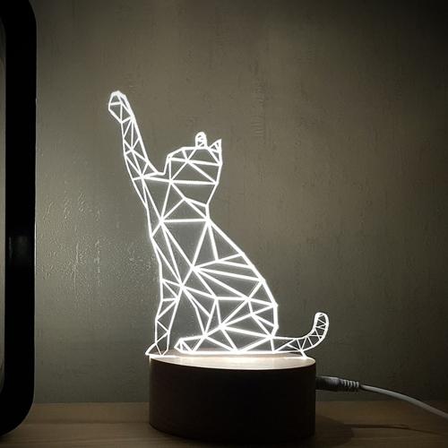 LED 고양이 무드등