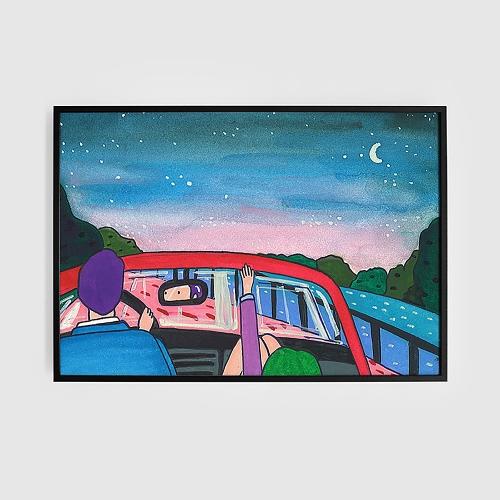 목요일 밤 (Art Print) / 일러스트 액자