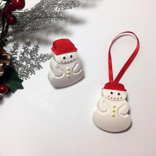 눈사람 크리스마스 석고방향제