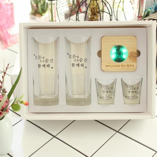 모모잔 & 불나 LED잔받침 선물세트
