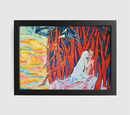 악마를 죽이는 가장 아름다운 방법 (Art Print) / 일러스트 액자