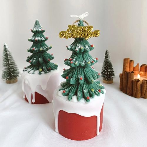 크리스마스 트리 케이크 캔들