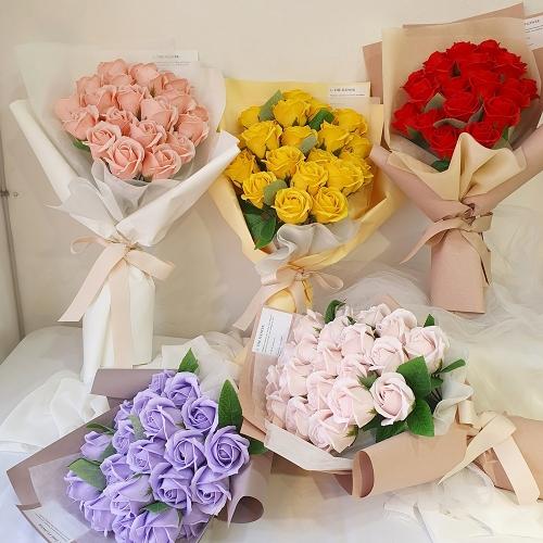 비누 장미 꽃다발 (5컬러)