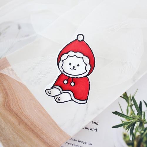 산타 비숑 차량용 석고방향제