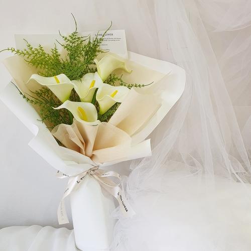 조화 카라 꽃다발