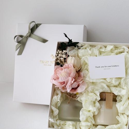 플라워 꽃다발 디퓨저 & 캔들 선물세트