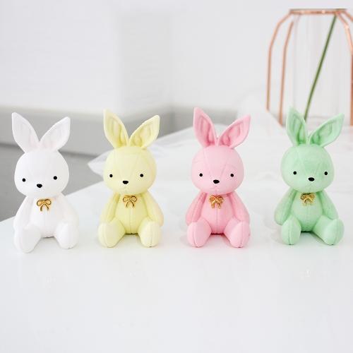 앉은 토끼 차량용 석고방향제