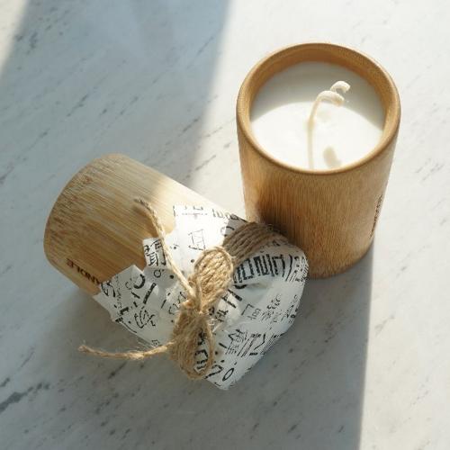 따뜻한 대나무의 향 밤부 캔들 [일시