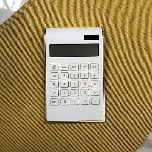 심플 골드라인 전자계산기