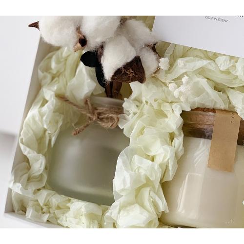 목화 꽃다발 디퓨저 & 캔들 선물세트