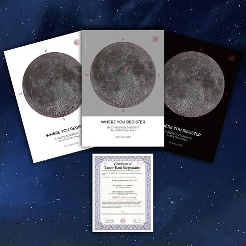 달 지도 및 달 등기 증서