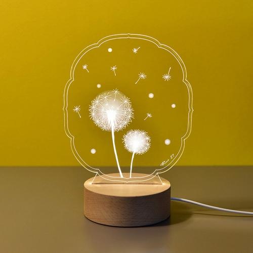 민들레 아크릴 LED무드등 LED간접조명 신생아수유등