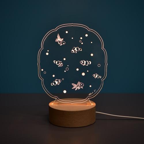 열대어 아크릴 LED무드등 LED간접조명