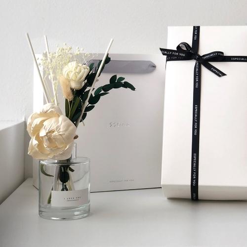 화이트 발렌타인 피오니 플라워 디퓨저 선물세트