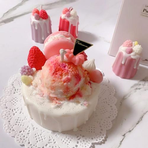 아이스크림 케이크 캔들