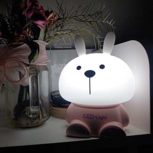 실리콘 토끼 LED무드등 LED간접조명 신생아수유등