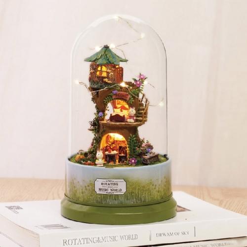 DIY 미니어처 오르골 돔하우스 - 숲속 오두막
