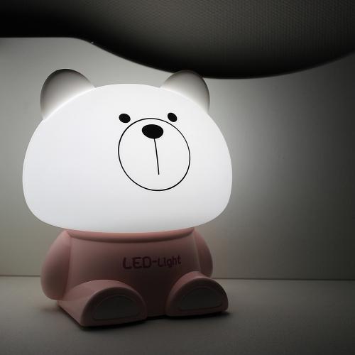 LED 실리콘 곰돌이 무드등 [일시품절]