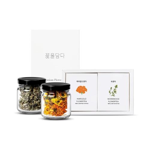 미니꽃차2종 선물세트(선택가능)+쇼핑백
