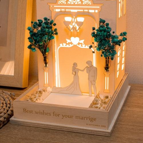 페이퍼 웨딩 LED무드등 LED간접조명 주문제작 결혼기념일선물