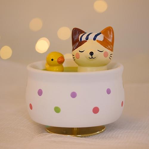 목욕하는 고양이 오르골