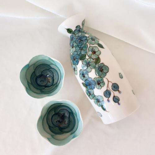 꽃한잔 주병 set