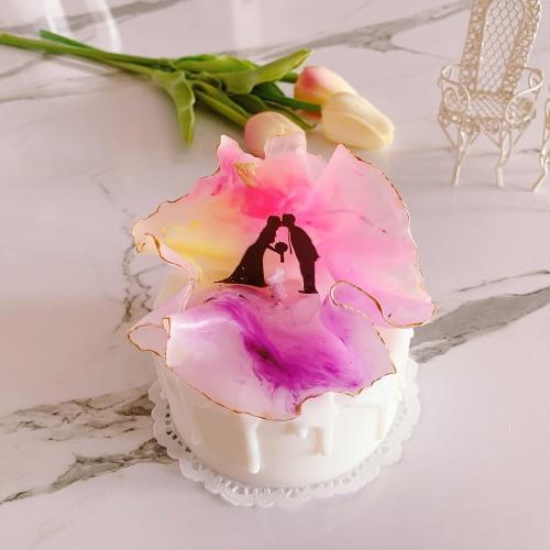 프로포즈 케이크 캔들