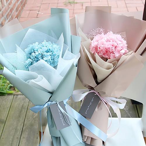 프리저브드 수국 꽃다발(핑크, 블루)기념일꽃다발