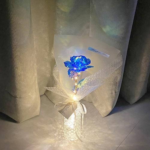 블루장미 플라워 LED 무드등