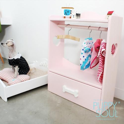반려동물 강아지 오픈형 와이드옷장_서랍형