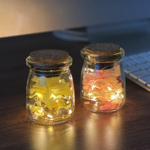 수국 프리저브드 미니 LED 무드등